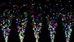 Brilliant flower particles spraying stage lighting Animation