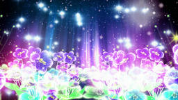 Dream watercolor flower stage lighting Animation