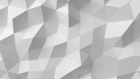Beautiful White Polygonal Surface Moving in Seamless 3d animation. Abstract Moti Animation