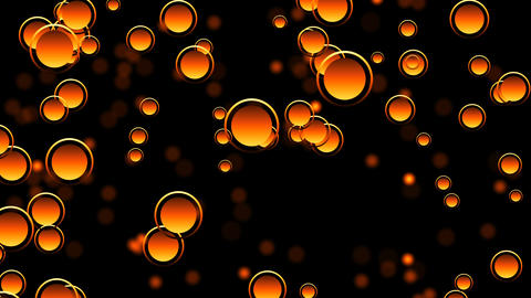 Abstract background with particles and bokeh Animation