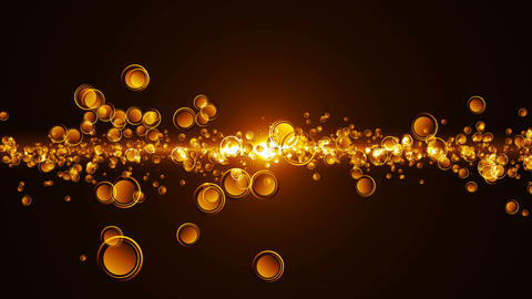 Abstract motion background, shining lights and particles Animation