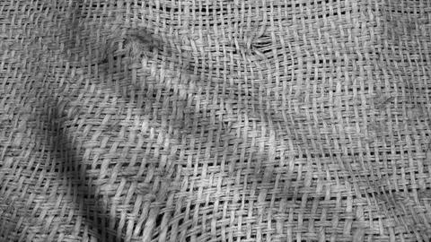 Highly detailed texture of burlap. Sackcloth background Animation