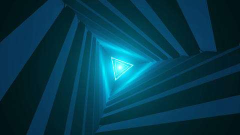 Triangle Future Space Tunnel. A Science Fiction Composition Stock Video Footage