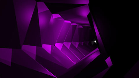 Abstract background with tunnel. Technology backdrop loop Animation