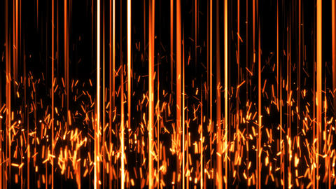 Abstract background with vertical lines and spark particles Animation
