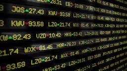 Stock market ticker currency wall st money business... Stock Video Footage
