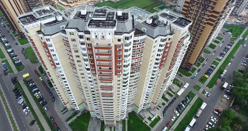 Aerial Architecture, Streets Roads and apartments in Moscow