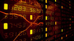Financial diagrams tickers numbers business data money stock market trade 4k Footage