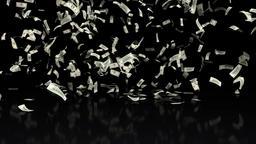 Money Falling Dollars Financial Win US USA American Currency Tax Make It Rain 4k Footage