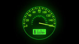 Speedometer fast car automobile speed dashboard accelerate mph kph light 4k Footage