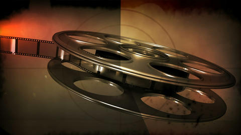 Film rolling out of a film reel Footage