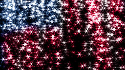 Magic sparkles fairy dust wand particle trail transition US USA stars stripes 4k Footage