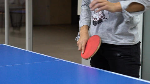 Ping-Pong Game Closeup Footage