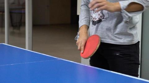 Ping-Pong Game Closeup Footage