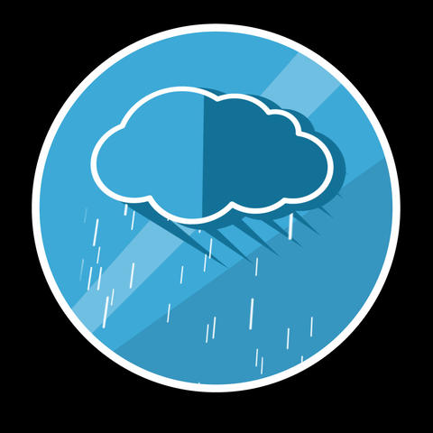 Cloud Flat Icon With Alpha Channel Animation