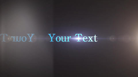 3D text glass broken BON! After Effects Template
