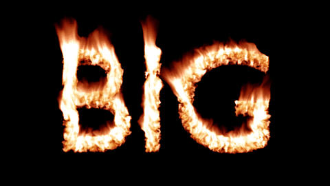 Big hot text brand branding iron metal flaming heat flames overlay 4K Live Action