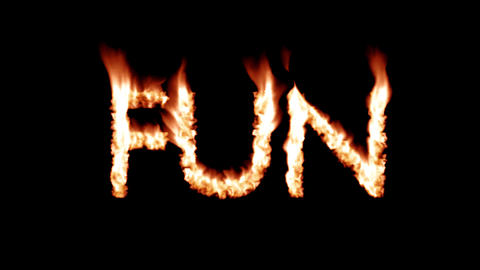 Fun hot text brand branding iron metal flaming heat flames overlay 4K Live Action