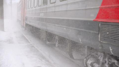 Suburban train arriving ビデオ