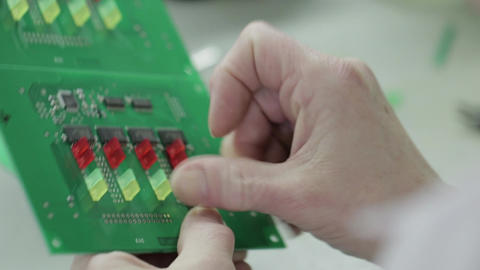 Electronics Chips Creating 01 Footage