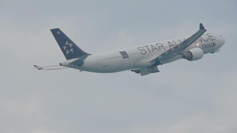 Airplane Airbus 330 departure Footage