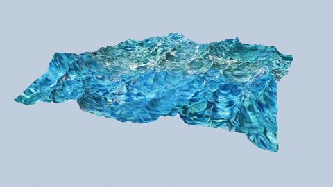 Digtal animation of violent ocean water