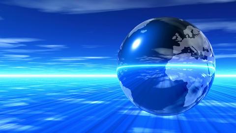 Earth japan blue Animation