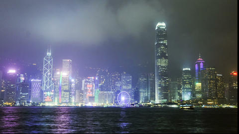 panorama of Hong Kong Island timelapse Footage