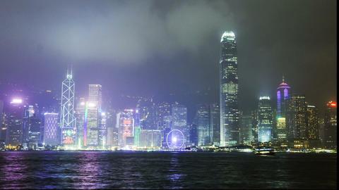 panorama of Hong Kong Island timelapse Footage