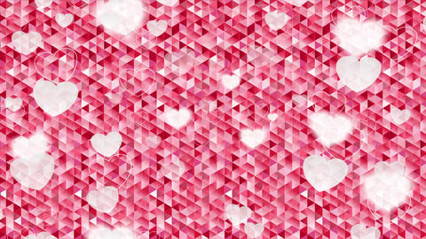 Valentine Day polygonal pixelated pink motion design Animation
