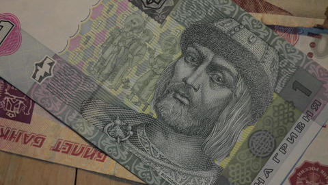old banknotes of various countries Footage
