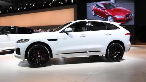 Jaguar F-Pace crossover SUV Live Action