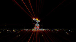 Social Network Icons Robot Dancing with red lasers Stock Video Footage