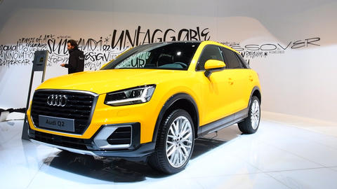 Audi Q2 compact crossover luxury SUV Live Action