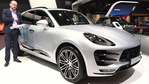Porsche Macan compact crossover luxury SUV Live Action