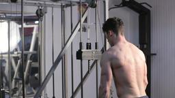 Man Running On Treadmill. Athletic sport lifestyle Footage
