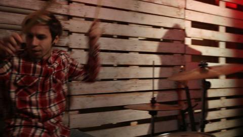 Friends performing music in nightclub Footage