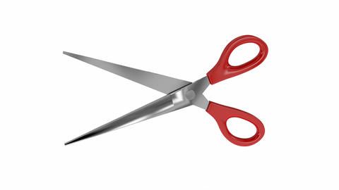 Red scissors Animation
