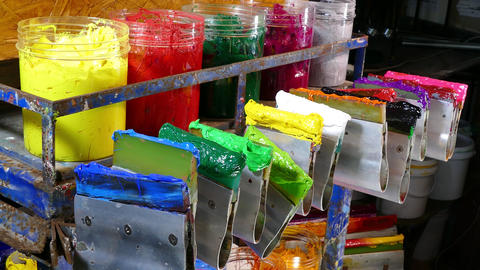 Store of Plastisol ink Footage