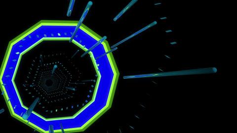 Tunnel Chaos 4K 01 Vj Loop Animation