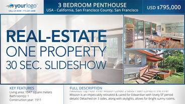 Real-Estate One Property 30s Slideshow 1 - After Effects Template After Effects Template