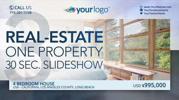 Real-Estate One Property 30s Slideshow 3 - After Effects Template After Effectsテンプレート
