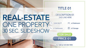 Real-Estate One Property 30s Slideshow 6 - After Effects Template After Effects Projekt