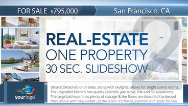 Real-Estate One Property 30s Slideshow 2 - Apple Motion and Final Cut Pro X Temp Apple Motion Project