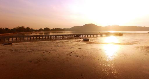 Palai pier at Ao Chalong Footage