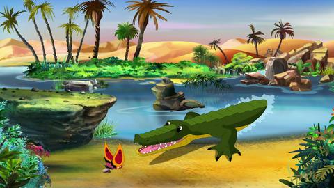 Little Playful Crocodile UHD Animation
