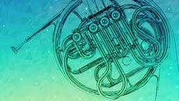 French Horn green Animation