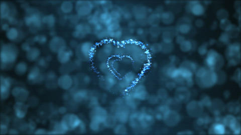 Heart Tunnel Motion Background Animation - Loop Blue Animation