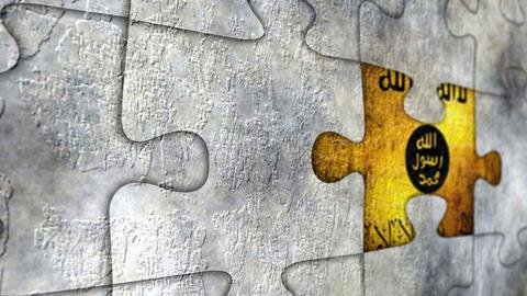 Isis Grunge Puzzle Concept Acción en vivo