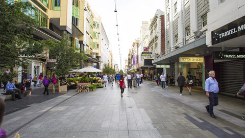 Adelaide Rundle Mall Footage